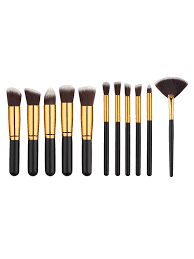 11pcs makeup brushes black and gold high quality professional brushes set share