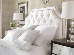 white tufted headboard. Simple Headboard Framed White Nailed Tufted Headboard Intended White Tufted Headboard F
