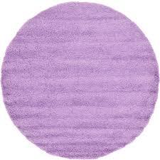 unique loom solid lilac 8 2 x 8 2 round rug