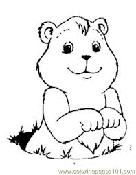 Small Picture Groundhog luking Coloring Page Free Groundhog or Woodchuck