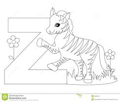 Small Picture Animal Alphabet Z Coloring Page Royalty Free Stock Photo Image