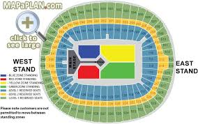 Wembley Stadium Nfl Seating Chart Wembley Stadium Seating Plan Detailed Seat Numbers