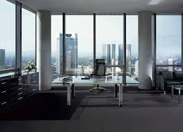contemporary glass office executive desk
