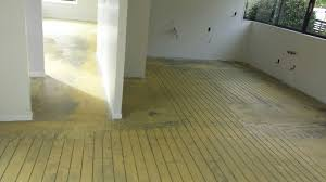 underfloor heating installation in a new home