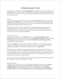Wedding Photography Contract Template Uk For Services This Agreement