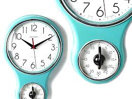 fabulous kitchen timer clock wind ideas lovely retro wall with min blue classic design p vintage