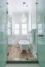 coastal master bathroom with white oak floors claw foot tub white ideas of extra long bathtub