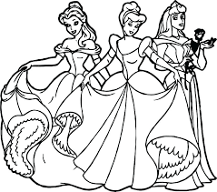 Disney Princesses Coloring Pages Trustbanksurinamecom