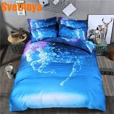 svetanya pillowcase duvet cover bedding set no sheet horse printed bedlinen twin full queen double king size timm3507