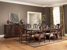 north s rectangular pedestal table w 4 side chairs 2 arm chairs buffet