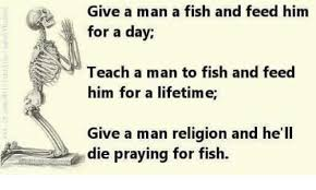 Image result for give a man a fish