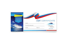 Word Gift Card Template Cruise Travel Gift Certificate Template Word Publisher