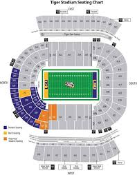 Lsu Seating Chart With Rows Tiger Stadium Seating Chart With Rows Comerica Park Seat