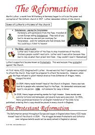 the protestant reformation worksheet year 8 study guide the protestant reformation martin luther and henry viii