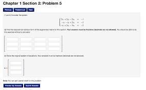 chapter 1 section 2 problem 5 previous problem list next 1 point consider