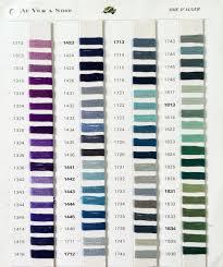 Soie D Alger Colour Chart D Alger 5m Skeins 3500 4500