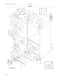 Electrolux refrigerator system parts model ei28bs56is3