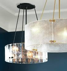sensational chandelier drum lamp shades fabric also large for