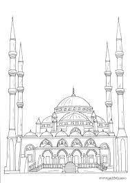 Coloring books for Muslim children. Coloring mosque Arabic ...