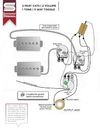 wiring diagrams seymour duncan part  2 phat cats 2 volume 1 tone 3 way toggle