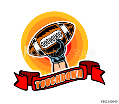 vector ilration of touchdown badge in pop art comic style