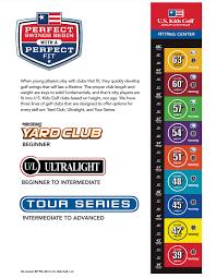 Kids Golf Club Size Chart 72 Skillful Golf Club Fitting Chart Kids