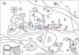St Patricks Day Coloring St Patricks Day Colouring Page 1