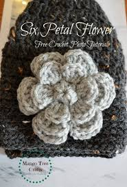 Free Patterns Crochet Adorable Crochet Flower Free Pattern Martisor Pinterest Crochet Flowers