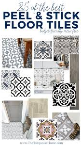 Peel And Stick Tile Designs The Best Peel And Stick Floor Tile Ideas The Turquoise Home