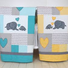 Best Elephant Baby Quilt Products on Wanelo & Twin Baby Quilts , Elephant Crib Bedding, Turquoise Blue Yello Adamdwight.com