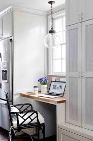 Kitchen office nook Neat Extraordinary Kitchen Office Nook Transitional Home In Atlanta With Builtin Desk And Babywatchomecom Atlanta Kitchen Office Nook Transitional Home With High Gloss And