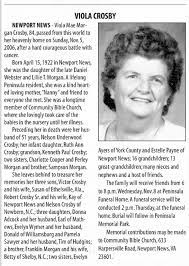 Obituary for Viola Mae Morgan Crosby, 1922-2006 (Aged 84) - Newspapers.com