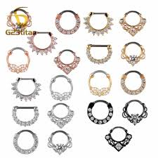 <b>G23titan</b> 16G <b>Nose Piercing Ring</b> Indian Septum Clicker Nose <b>Rings</b> ...