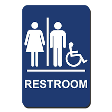 Restroom signs Printable Blue Plastic Restroom Braille Accessible Sign The Home Depot Lynch Sign In In Blue Plastic Restroom Braille Accessible