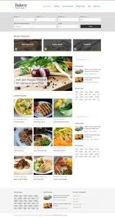 Food Recipe Template Bakery Responsive Recipes Html Template For Food Recipe And