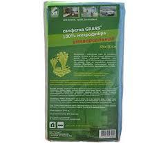<b>Салфетка GRASS</b> из <b>100</b>% <b>микрофибры</b> универсальная 35*40см ...
