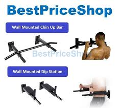 combo fitexperte wall mounted dip pull chin up bar muscle workout