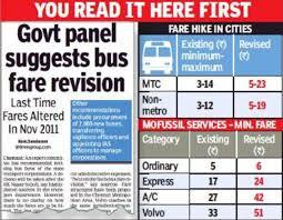 Chennai Metro Fare Chart Tamilnadu Bus Fare Hike Tamil Nadu Bus Fares Jump By 67