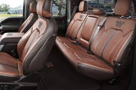 super duty king ranch kingsville antique affect leather seating surfaces