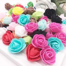 <b>144pcs</b>/bag <b>MINI</b> PE Multicolor <b>fake</b> foam rose <b>Artificial</b> flowers ...