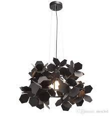 modern black flower pendant light retro