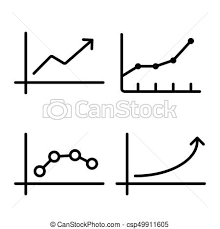 Line Chart Graph Icon On White Background