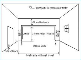 garage door height2 Car Garage Door Dimensions Standard  Wageuzi