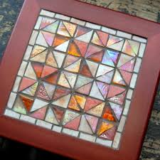 Broken Dishes Quilt Pattern in Glass Mosaic by Margaret Almon ... & Broken Dishes Quilt Pattern in Glass Mosaic by Margaret Almon Adamdwight.com