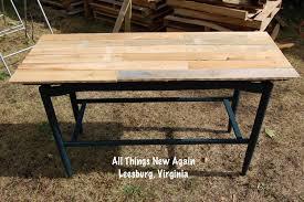 Wood Pallet Table Top Diy Wood Pallet Tabletop All Things New Again