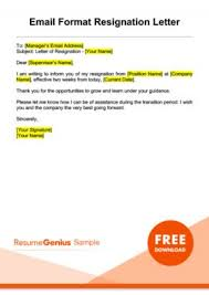 Resigned Format Resignation Letter Samples Free Downloadable Letters