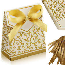 100 Wedding Favour Favor Sweet Cake Gift Candy Boxes Bags Anniversary Party