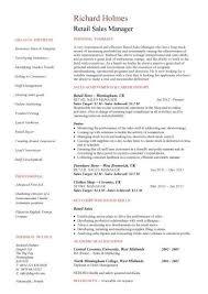 Sales Resume Example Of Retail Sales Resume Retail Sales Associate