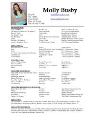 Theatre Resume Example 24 Actor Resume Example Template Acting No How To Write An Actors 13