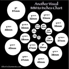 Bead Millimeter Size Chart Diy Jewelry Visual Mm To Inches Chart Beading Jewelry